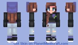 very blue Minecraft Skin