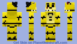 Withered Golden Freddy Minecraft Skin