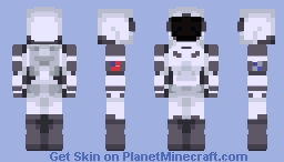 SpaceX Space Suit Minecraft Skin