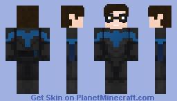 Dc's Nightwing Minecraft Skin