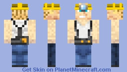 Captain Awesome Miner Minecraft Skin