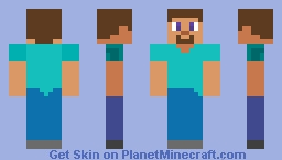 Cartoony Steve Minecraft Skin