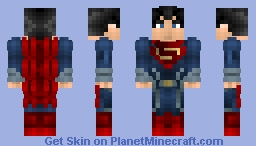 Man of Steal | Super Man/ Justice League Minecraft Skin