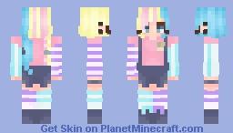 Cotton Candy {Reshade entry} Minecraft Skin
