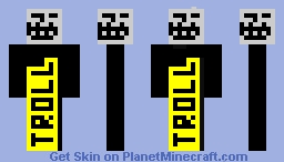 Troll Jaune & Noir Minecraft Skin