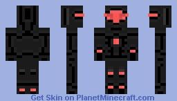 Red Space Warrior Minecraft Skin