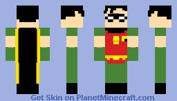 Batman: The Animated Series - Robin (Dick Grayson) Minecraft Skin