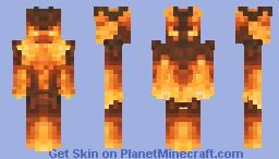🔥тwo-ғαced ғlαмe мαɴ🔥 Minecraft Skin