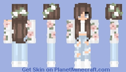 ~♥flower girl♥~ Minecraft Skin
