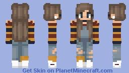 𝓢𝓱𝓮𝓵𝓫𝓾𝓰 | girl in stripes lol Minecraft Skin