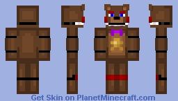 Rockstar Freddy (FNAF 6, Freddy Fazbears Pizzaria Simulator) Minecraft Skin