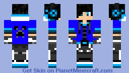 Blue gamer Minecraft