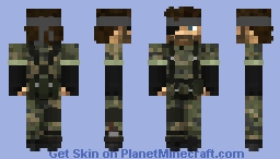MGS3 - Big boss Minecraft Skin