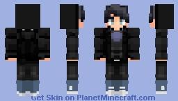Boy w/ black hoodie. Minecraft Skin