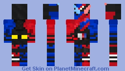 Kamen Rider Build RabbitTank Form Minecraft Skin