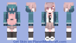 """Ngh...I'm not some girl gamer who talks about video games she's never beaten..."" Minecraft Skin"