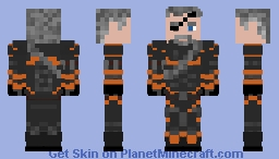 Deathstroke The Terminator (without mask) Minecraft Skin