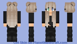 Homeless Girl with Jacket Minecraft Skin