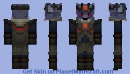 Evil Fire Wolf King Minecraft Skin