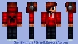 Creeper Hoodie Gamer Minecraft Skin