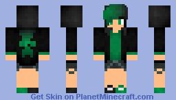 Green Girl Minecraft Skin