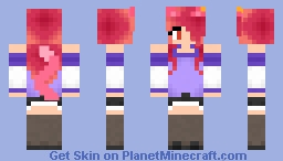 Pink Cat Girl Minecraft Skin