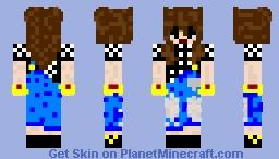 La meuf bg Minecraft Skin