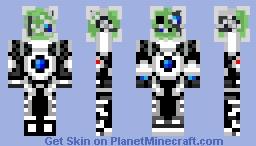 Space-cyborg Slime Fix Minecraft Skin