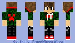 Supreme x Minecraft - Camo and Red Hoodie Minecraft Skin