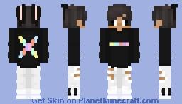 Rainbow Master Logo Minecraft Skin