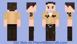 The Walking Dead Rick Grimes S01E01 Minecraft Skin