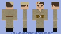 Soviet Paratrooper with combat equipment WW2 Minecraft