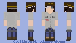 The Walking Dead Carl Grimes S08E08 (with Hat) Minecraft Skin