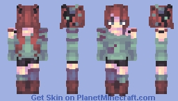 𝒮𝓀𝒶𝒸𝒽𝓊|| Wasteland- Ice and Tears Minecraft Skin