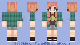 Disney Princesses Pajamas/Casual: Anna Minecraft Skin