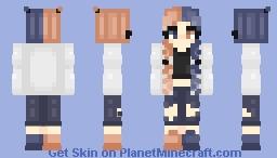 Peach and Blue Minecraft Skin