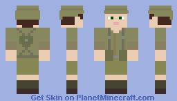 British Desert Soldier World War II Minecraft Skin