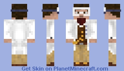 Vest+Ascot w/ Labcoat Overlay (Courtesy of Domain2Genus) Minecraft Skin