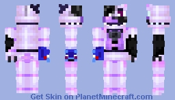 Withered Funtime Freddy V1 Minecraft Skin