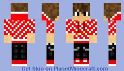 Supreme x Louis Vuitton x Minecraft - Red and White Hoodie Minecraft Skin