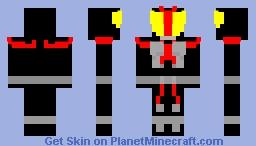 Kamen Rider Faiz Minecraft Skin