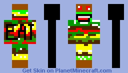 eat burgur Minecraft Skin