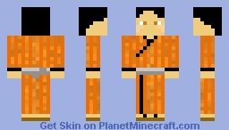 Orange Yukata Minecraft Skin