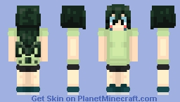 Tsuyu Asui Training Camp Minecraft Skin