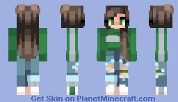 Slytherin Skin (Modified from an Original I cant find credit for) Minecraft Skin