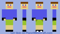 Multi-Face Man W/ Gloves and Green Shorts Minecraft Skin
