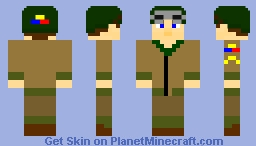 US 2nd Armored Division Tanker WW2 - Hurtgen Forest, Germany, 1945 Minecraft Skin