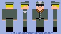 Wehrmacht General World War II Minecraft Skin