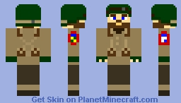 Brazilian Expeditionary Force Soldier - Italy, 1944, WWII Minecraft Skin