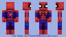 Spooder Man Minecraft Skin